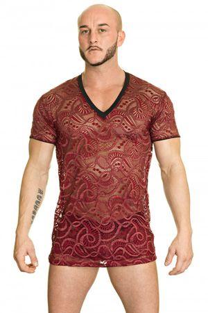 L'Homme Invisible Ocean Life V Neck T-Shirt