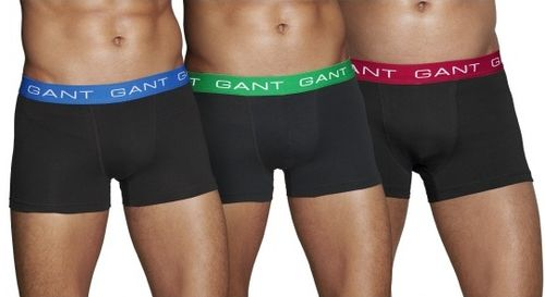 Gant 3 Pack Black Boxer Trunks