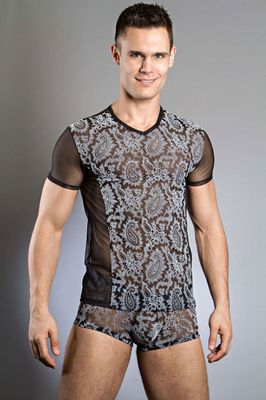 Body Art Hermes V Neck T-Shirt