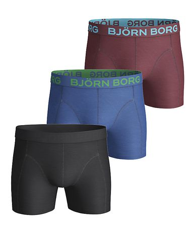 Björn Borg 3 Pack Solid Trunks